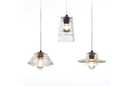 Pressed Glass Tube Pendant from Tom Dixon