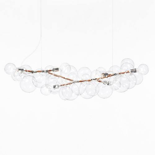Long Bubble Chandelier from Pelle | YLighting