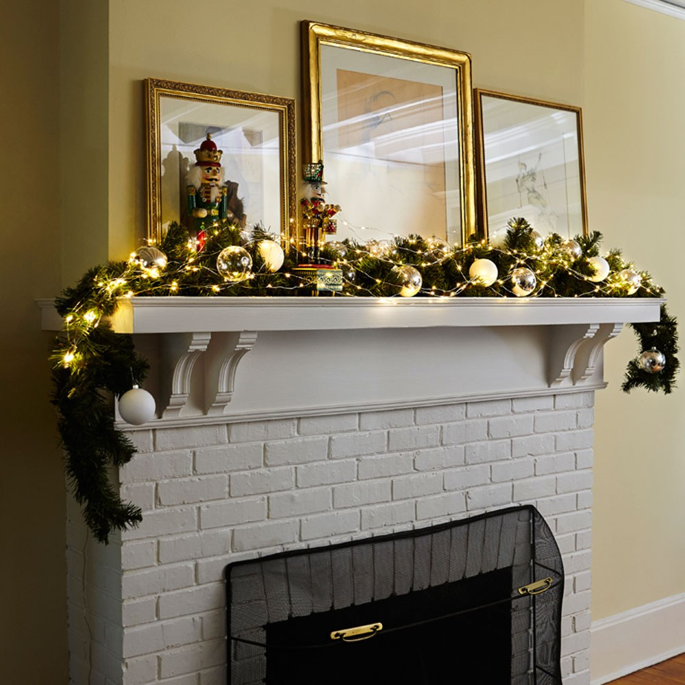 fireplace mantel lighting. Fireplace Mantel String Lights Ideas Fireplace Mantel Lighting A