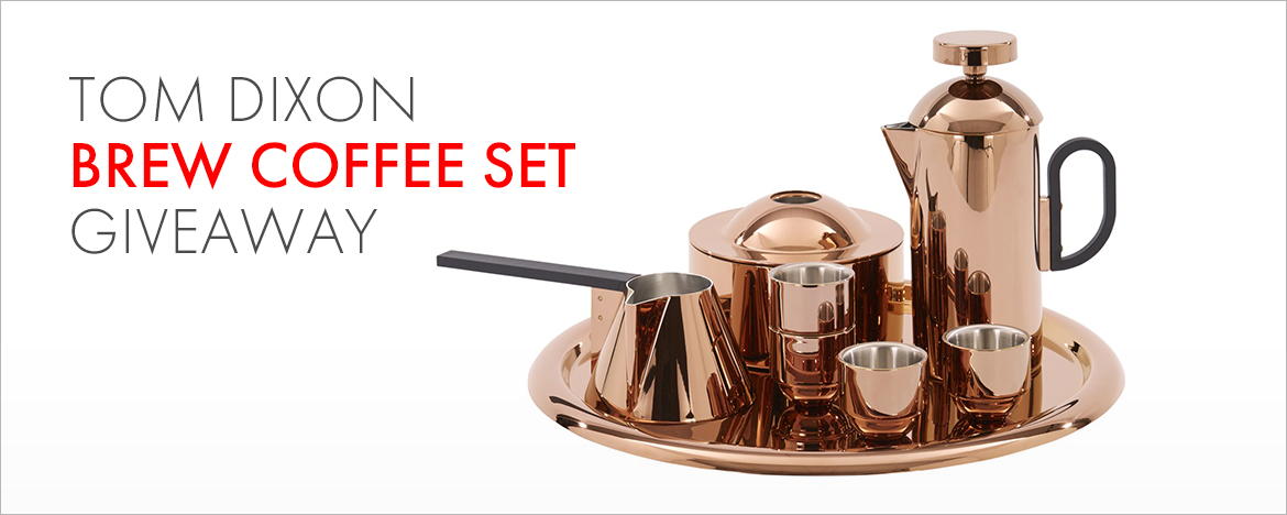 Tom Dixon Coffee Set Giveaway