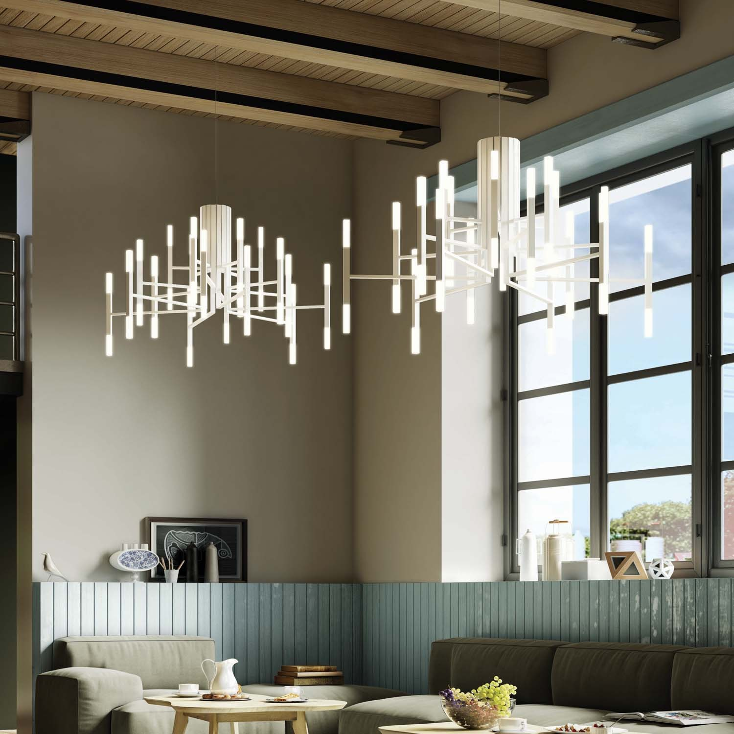 Home Interior Lighting: Chandeliers In Unexpected Places