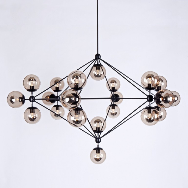 Modo 6 Sided Chandelier - 21 Globes By Jason Miller, from Roll and Hill|YLighting