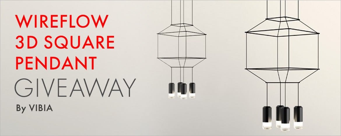 Vibia Wireflow 3d Square Pendant Giveaway Thank You