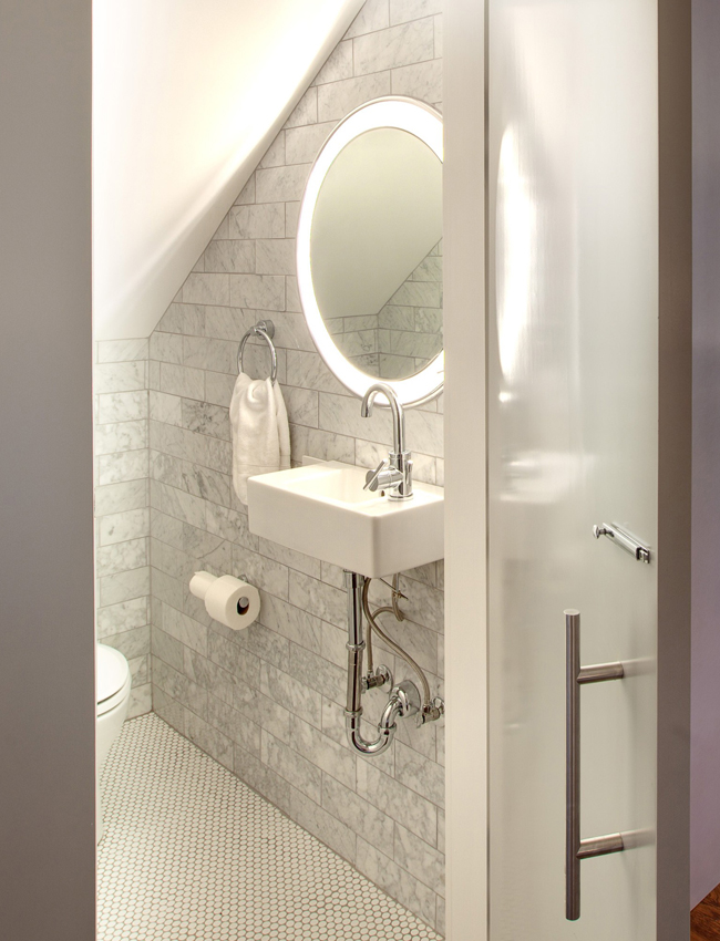 Trinity Lighted Mirror by Electric Mirror for a Small Bathroom | YLighting