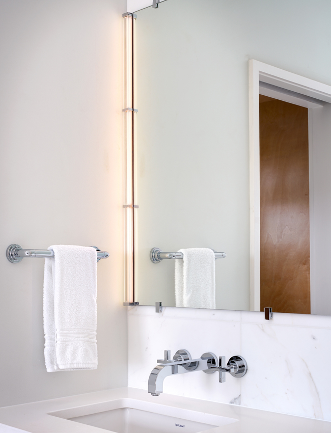 Gia Mirror Kit By Tech Lighting For A Small Bathroom Ylighting
