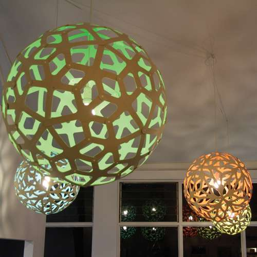 David trubridge coral pendant giveaway design necessities lighting the david trubridge coral pendant is made from bamboo plywood with the interior painted in a choice of vibrant colors the exterior in a choice of natural aloadofball Gallery