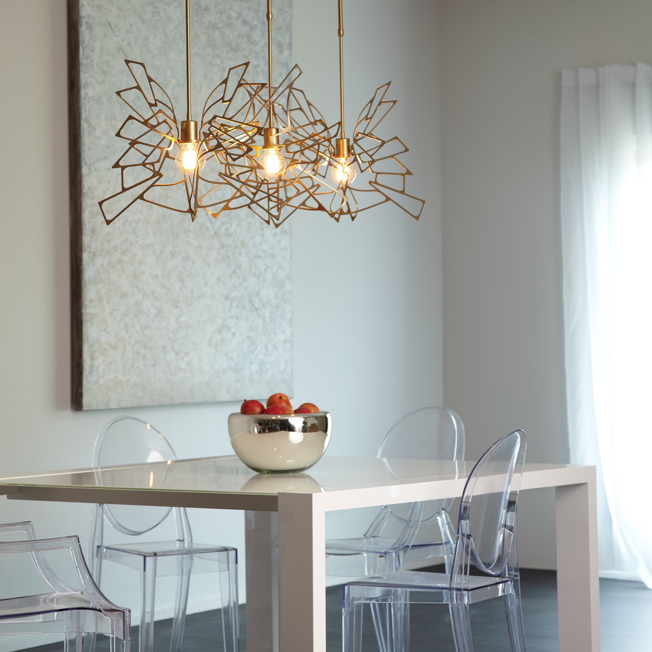 monarch 3 light multipoint pendant light from vermont modern by hubbardton forge ylighting - Hubbardton Forge