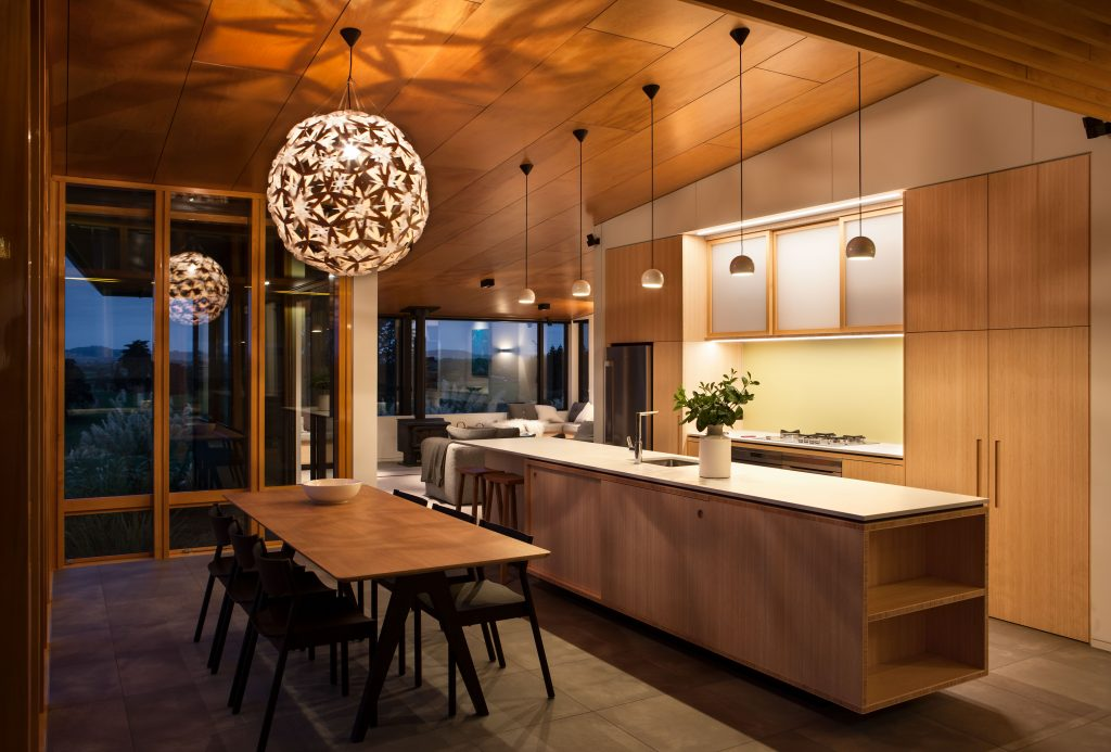 Painting spaces with shadows lighting by david trubridge for New zealand kitchen designs