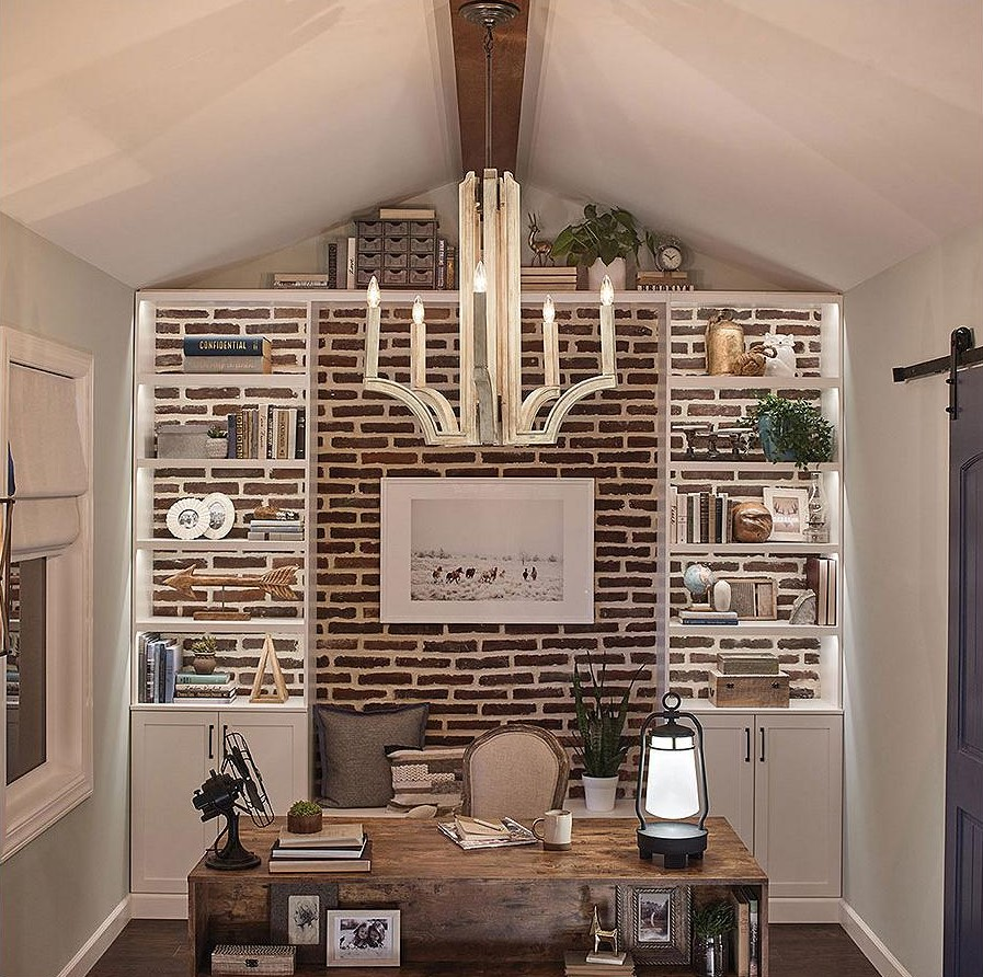 rustic decor with vaulted ceilings