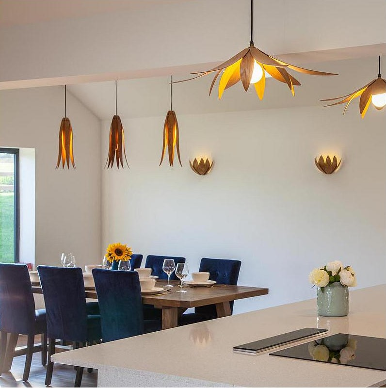 lotus wall sconces and pendant lights