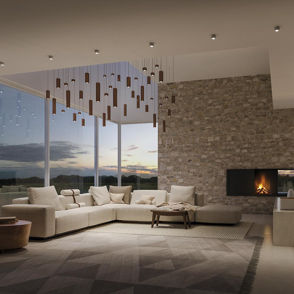 Living Room led cluster pendant ideas