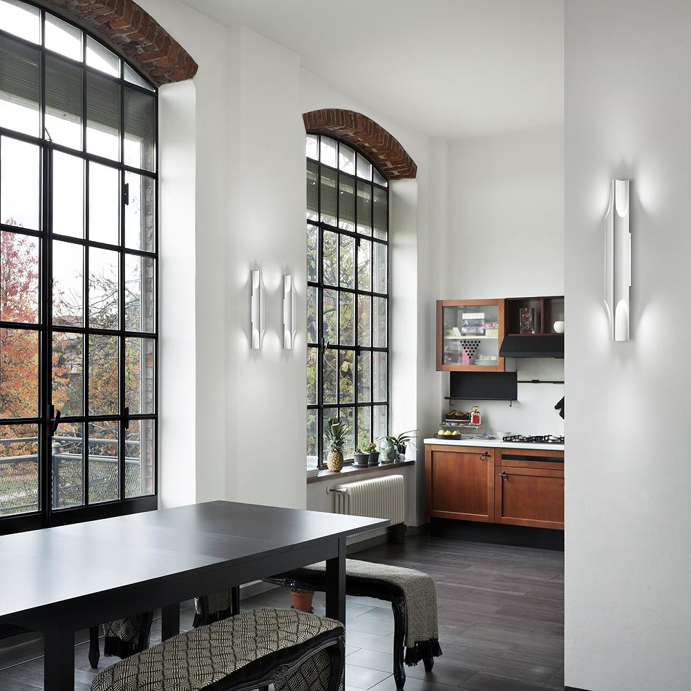Large kitchen wall sconce lighting ideas.