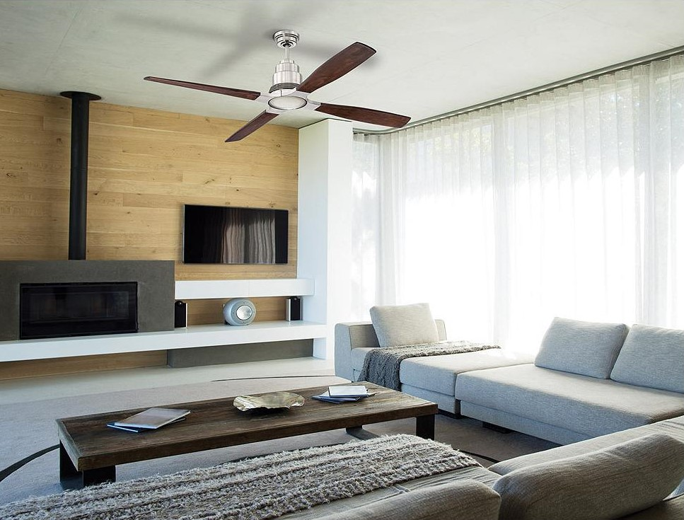 modern low ceiling ceiling fan.