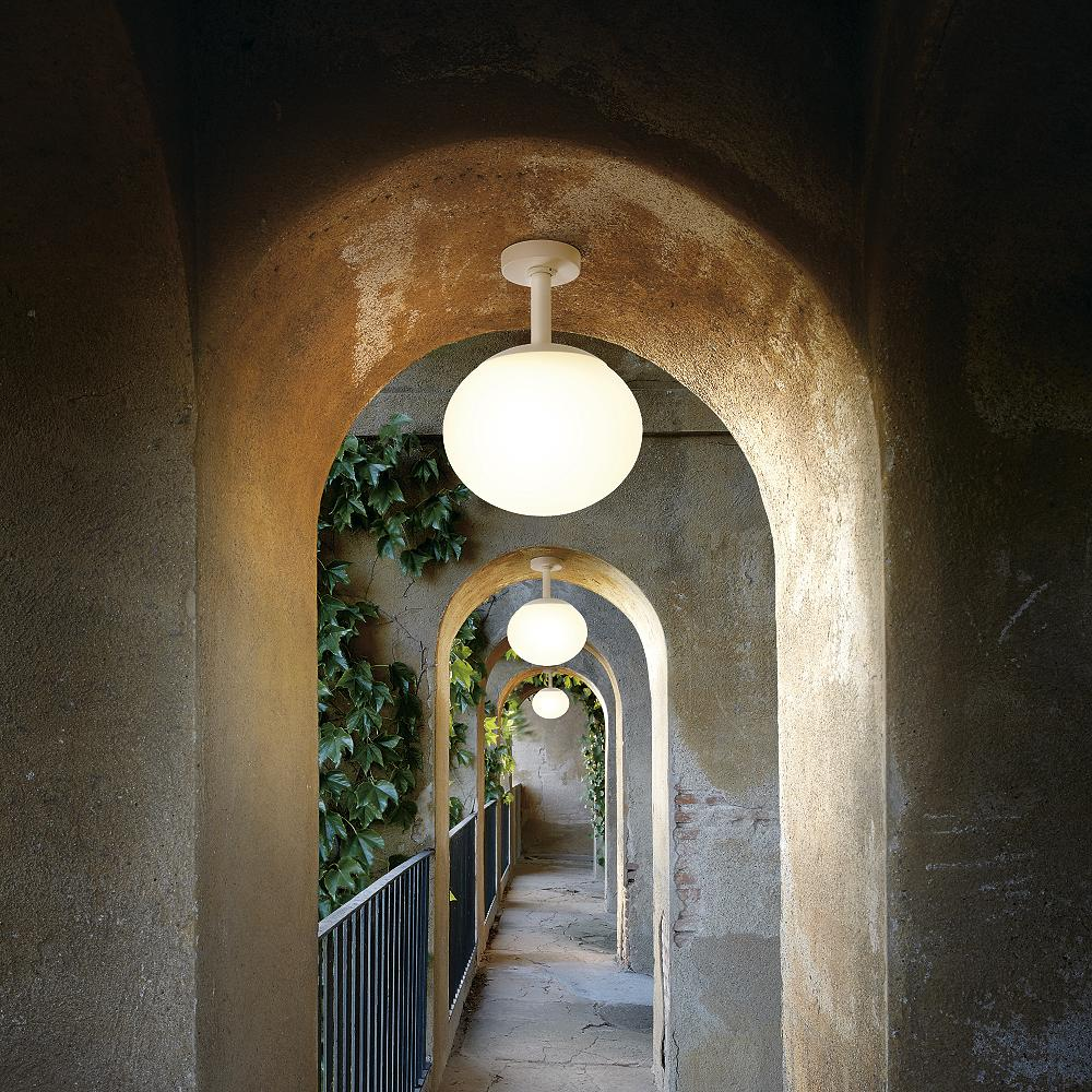 modern outdoor semiflush walkway lighting