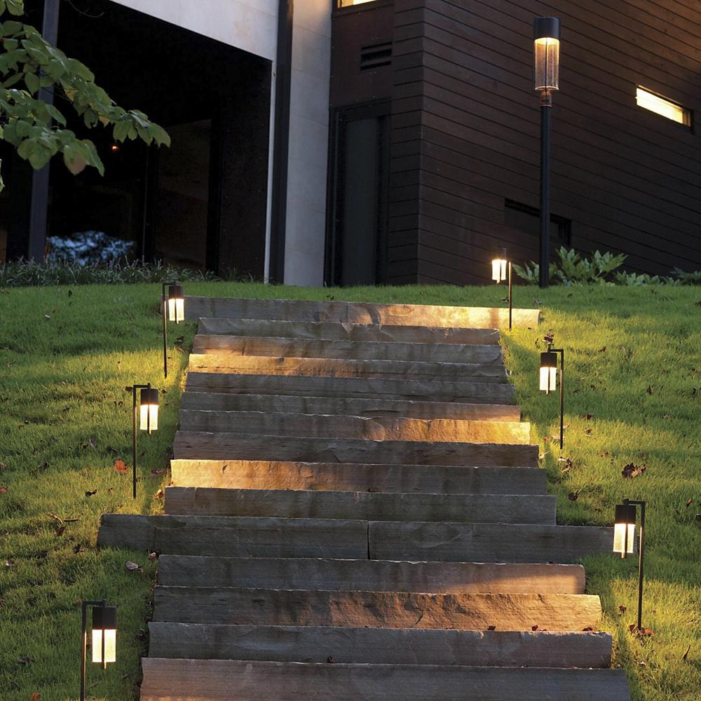 Outdoor modern path lighting for stairs.