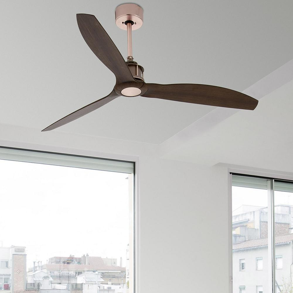 slim wooden ceiling fan.
