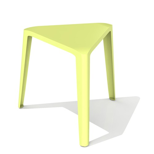 Modern triangle low stool.