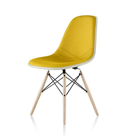 Modern molded yellow side chair
