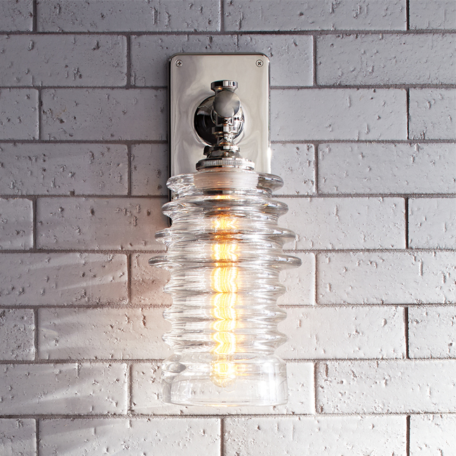 Ribbed, decorative wall sconces.