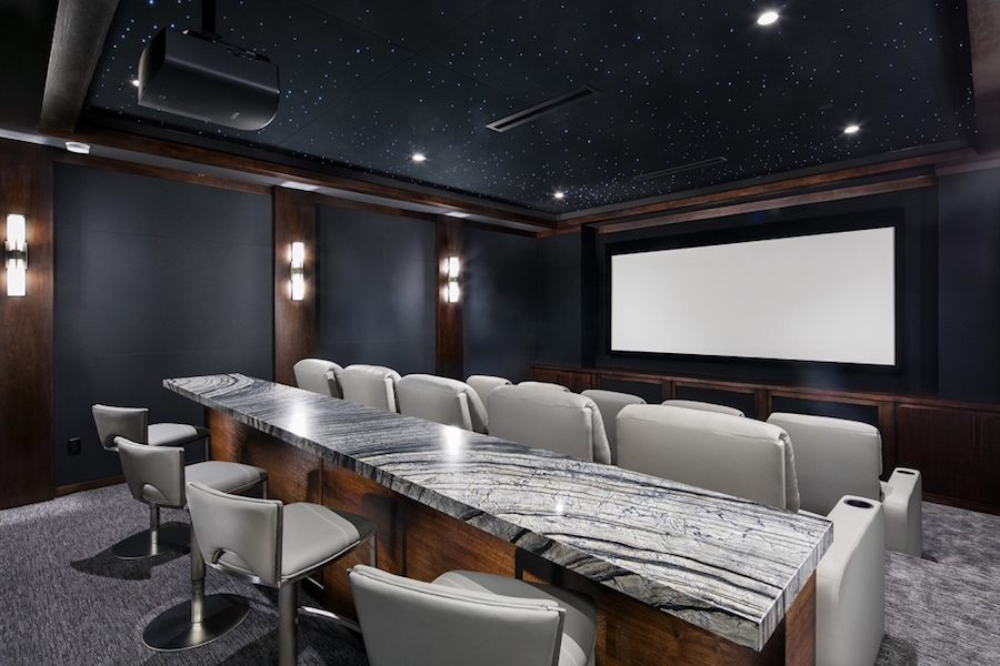high end, modern home movie theater.