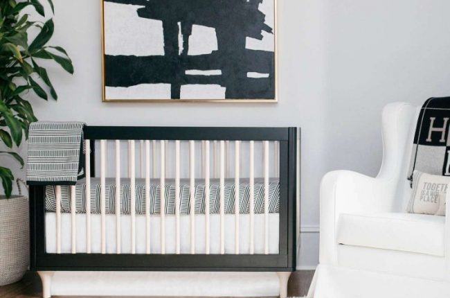 black-white-modern-nursery-ideas
