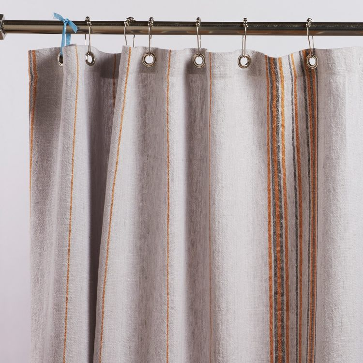 rustic style shower curtain.