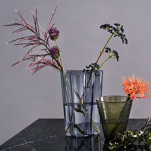modern and unique shaped vase.