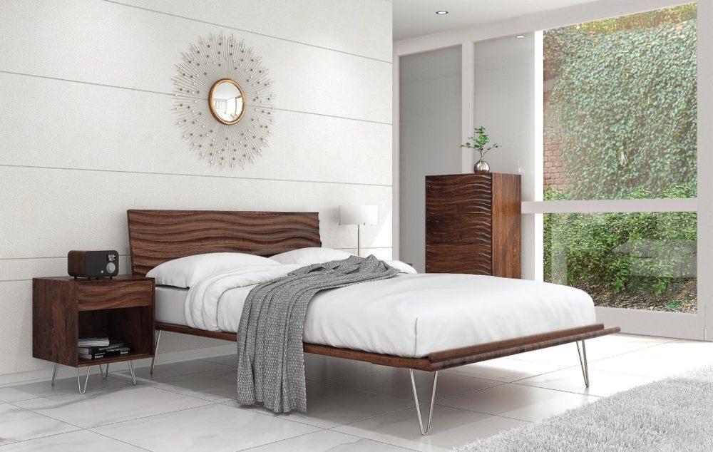 light and airy modern bedroom.