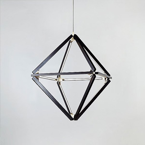 Modern & Contemporary Black & Wood Chandeliers