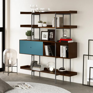 Living Room Furniture Bookcases + Wall Shelves