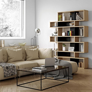 Designs for Small Spaces Bookcases + Wall Shelves