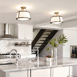 Kitchen Lighting Semi-Flush Mount Ceiling Lights