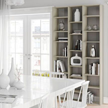 Dining Room + Kitchen Bookcases + Wall Shelves