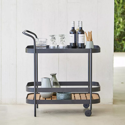 Outdoor Furniture Outdoor Bar Carts + Serving Stations