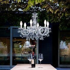 Outdoor Pendants + Chandeliers